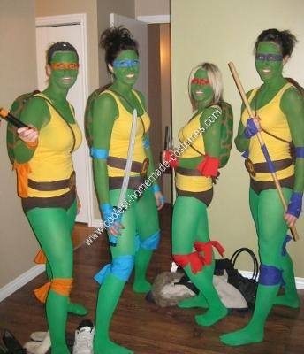 Most creativefun halloween costumes for groups identity magazine coolest ninja turtle diy group halloween costume idea solutioingenieria Gallery
