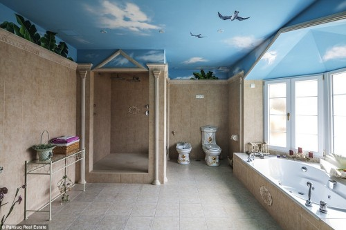 Check out an ancient egypt themed holiday house identity for Bathroom designs egypt