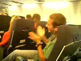 clapping passengers-plane