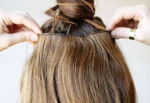 wear hair extensions
