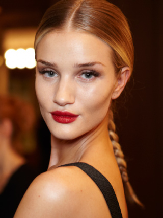 Grace Red lipstick and simple face