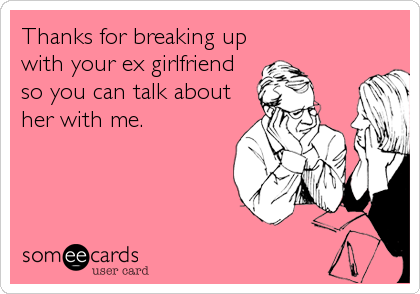 talking about exes