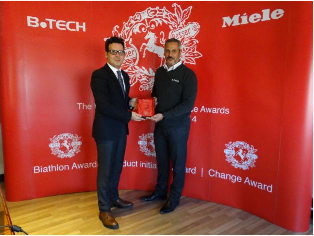 Dr.Mahmoud Khattab (CEO of B.TECH) & Mr.Atman LeKhalifi (Miele Expert Manager-MENA)