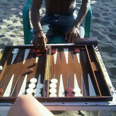 backgammon on the beach