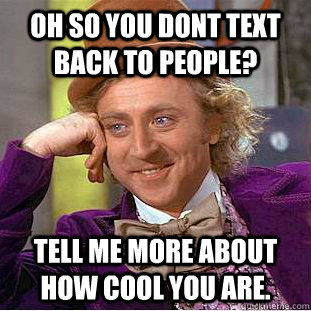 text me back
