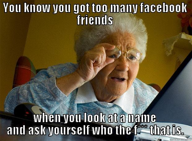 Meme too many friends on Facebook