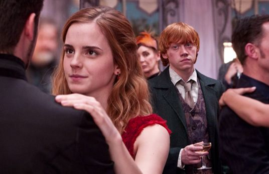 Ron, Hermione and Krum
