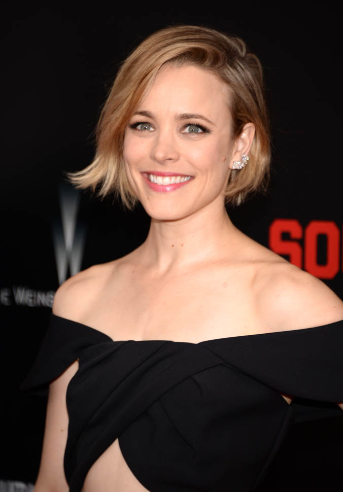 """NEW YORK, NY - JULY 20: Rachel McAdams attends the """"Southpaw"""" New York premiere at AMC Loews Lincoln Square on July 20, 2015 in New York City. (Photo by Kevin Mazur/WireImage)"""