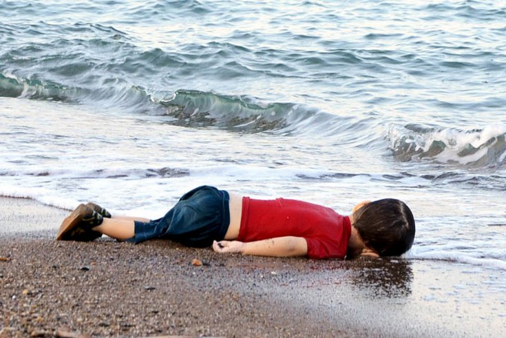 Syrian refugees drowning