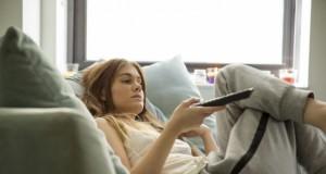 woman watching movies