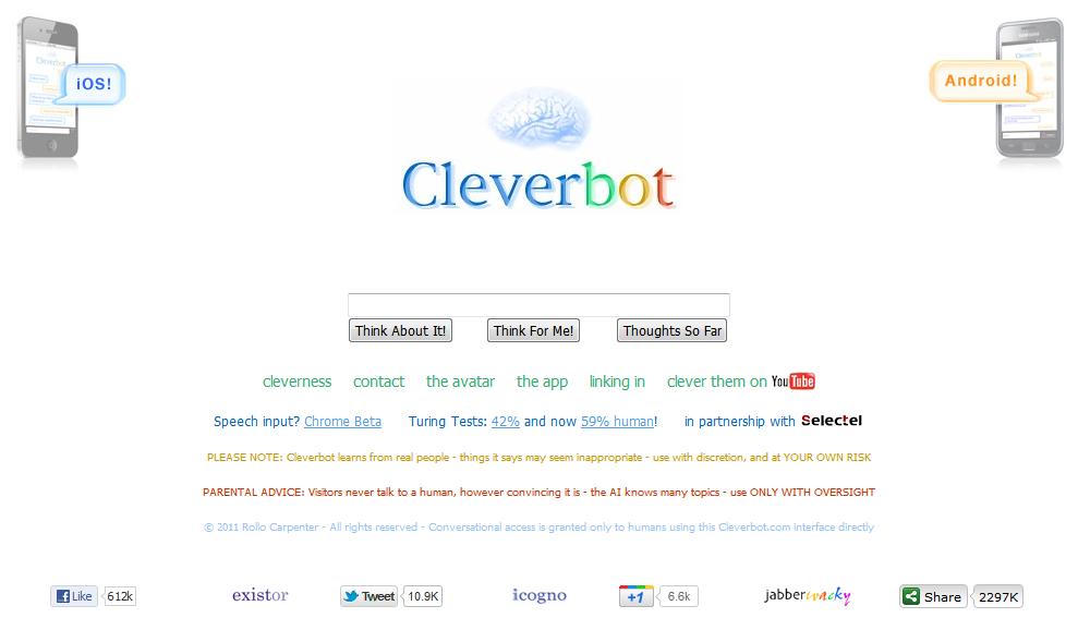 Cleverbot_website