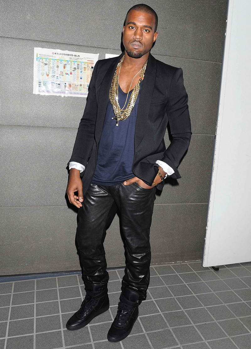 Kanye-West-Style-Leather-Pants-Picture-Black-Suit-Jacket