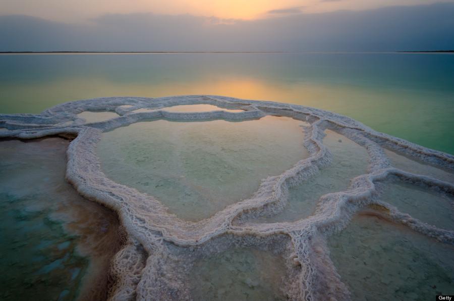 Salt pool sunrise