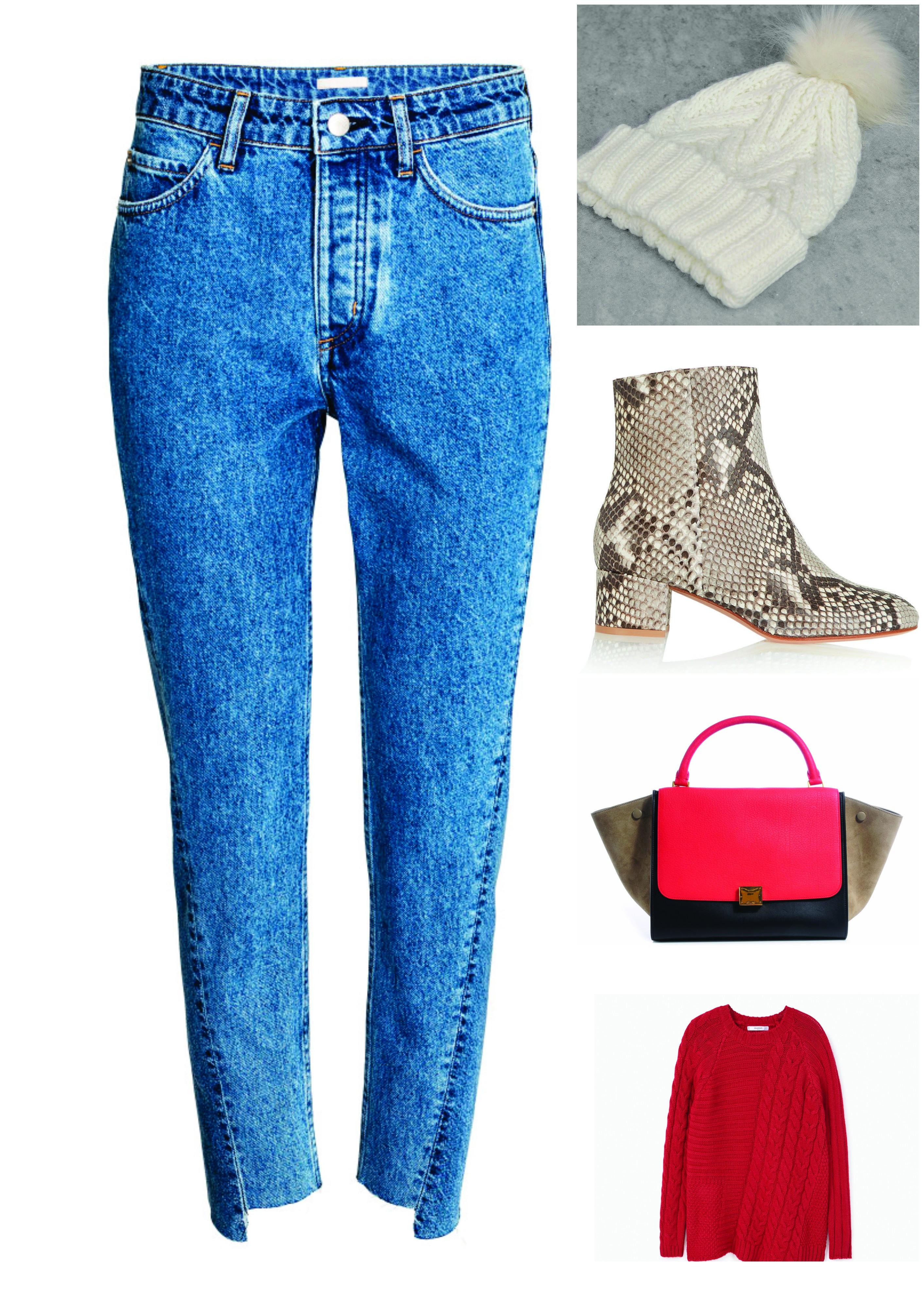 Pants: H&M, Bag: Celine, Pullover: Mango, Boots: Gianvito Rossi, Beanie: Bershka