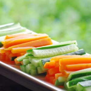 Carrots and cucumber fingers