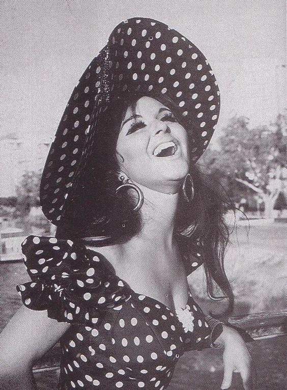 Soad Hosny polka dress