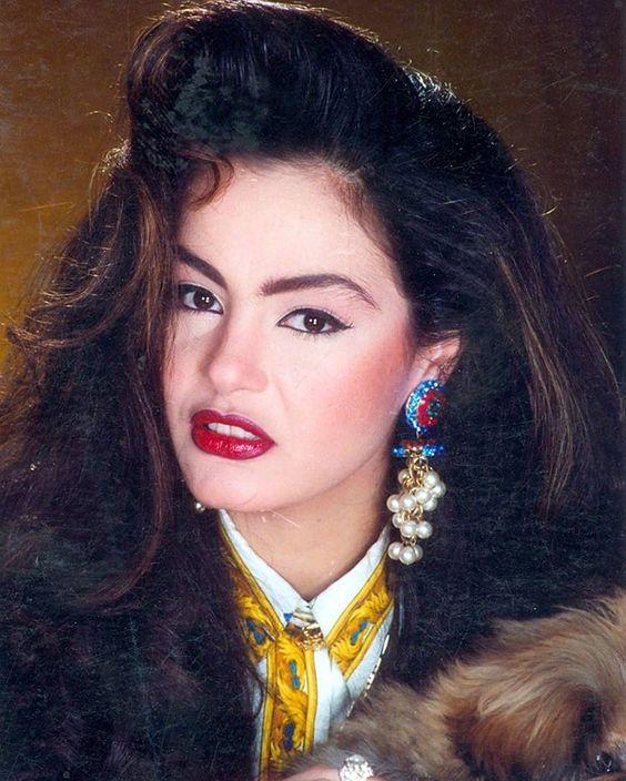 Sherihan big hair and statement earrings