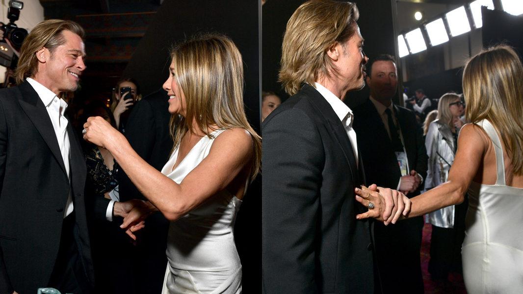 15 Years Later: Brad Pitt & Jennifer Aniston Have An Affectionate ...